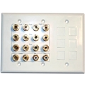 Channel Vision Cc-372 7.2 Home Theater Wall Plate W/Inserts