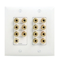 On Q Legrand Wp9009-Wh-V1 7.1 Home Theater 2 Gang Wall Plate Whit