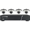 Speco Technologies Zipk4Im1W 4 Channel 1 Tb NVR with 4 Mini Dome Cameras