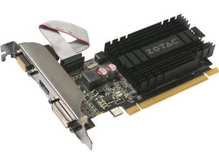 ZOTAC GeForce GT 710 DirectX 12 ZT-71302-20L 2GB 64-Bit DDR3 PCI Express 2.0 x 8 Video Card