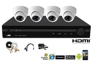 DVR Security System 4Ch H.264 Kit Sv-Kit4036