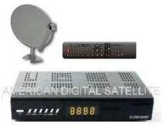American Digitals HDFTABundle1 HD FTA Sat Receiver, With recording capability on Flash Drive, and Internet browsing connectivity, HDMI Cable