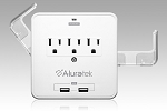 Aluratek Aucs07F Mini Surge Dual USB Charge Station