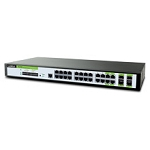 Luxul XMS-1024P Z-24Port Gb Mngd PoE SWTCH