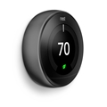 Nest Labs T3016US Nest Thermostat Carbon Blk T3016Us Wifi 95% 24V Hvac 3Rd