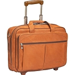 Solo D529-1 Executive Leather Checkfast Rolling Case 15.4
