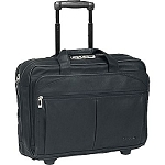 Solo D529-4 Executive Leather Checkfast Rolling Case up to 15.6""