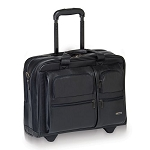 Solo D957-4 Classic Leather Rolling Case 15.6
