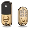 Yale Brass Push Button Lock Z-Wave 25 Users Keyed Db