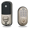 Yale S Nickel Push Button Lock Z-Wave 25 Users Keyed Db