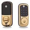 Yale Brass Touchscreen Lock Z-Wave 25 Users Keyed Db
