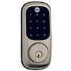 Yale Security YRD226ZW619 Satin Nickel Lock Key Free Z Wave 25 User Puch Button