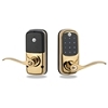 Yale Brass Lever Touchscreen Lock Z-Wave 25 Users Keyed Db