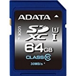ADATA Premier 64Gb Sdxc Flash Card Asdx64Guicl10-B