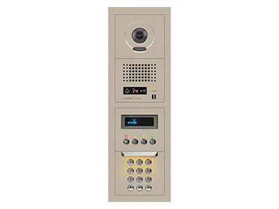 Aiphone 10-KEY VIDEO ENTRANCE PANEL KIT,1x4 SIZE GTV-DES104A